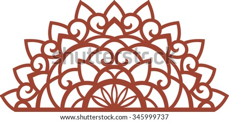Decorations on the Christmas theme. Driving half to cut snowflakes. - stock vector