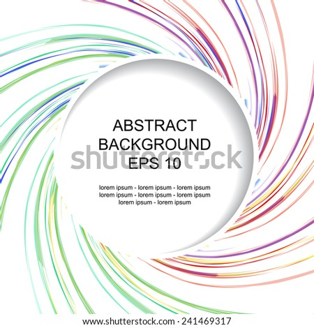 Decorative abstract colored background with stripes - stock vector