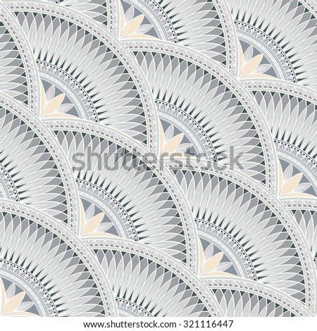 Decorative abstract seamless pattern with floral elements. Stylized diagonal pattern. - stock vector