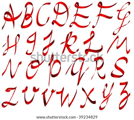 decorative alphabet set - stock vector