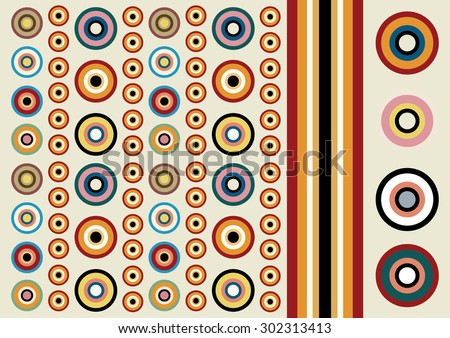 decorative background concentric circles - stock vector