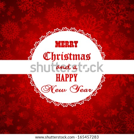 Decorative background for Christmas and the New Year - stock vector
