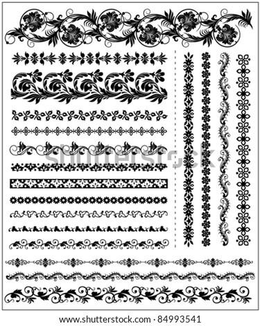 decorative borders 2 - stock vector