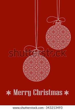 Decorative Christmas Baubles - stock vector