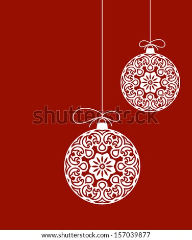 Decorative Christmas Ornaments - stock vector