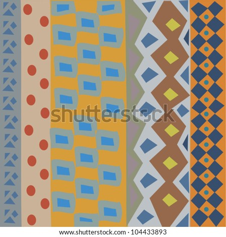 Decorative colorful pattern with a vibrant original African feel - stock vector