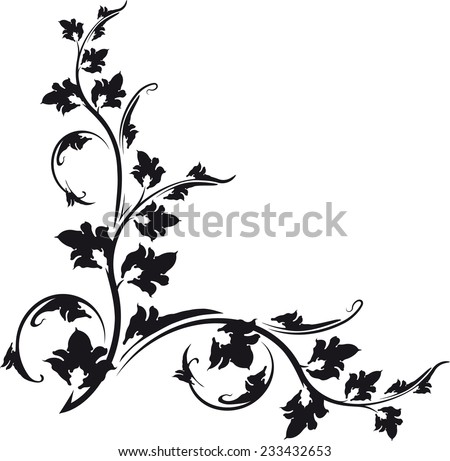Decorative corner.  - stock vector