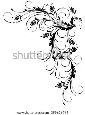 Decorative corner ornament in retro style - stock vector