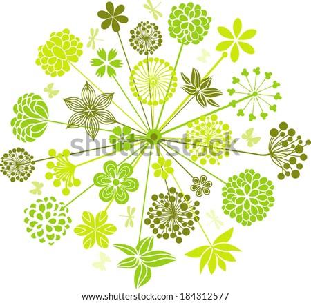 Decorative dandelion - stock vector