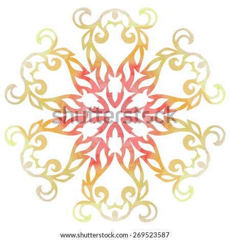 Decorative element indian style - stock vector