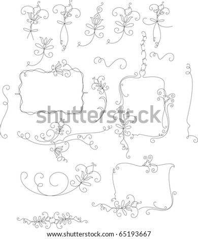 Decorative elements, frame - stock vector