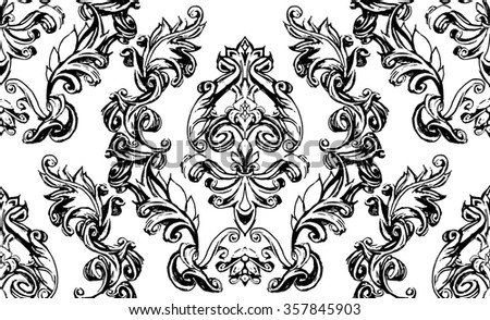 decorative elements in vintage style for decoration layout, framing, for text for advertising, illustration hands, seamless texture - stock vector
