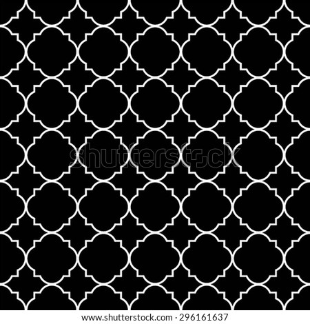 Decorative elements of squares and circles in a grid pattern, seamless vector background. - stock vector