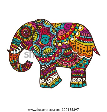 Decorated elephant face - photo#14