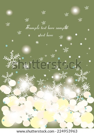 decorative festive vector background with snow flakes and tex - stock vector
