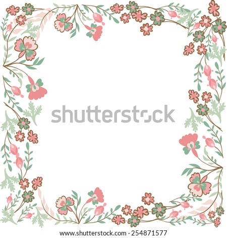 Decorative floral frame - stock vector