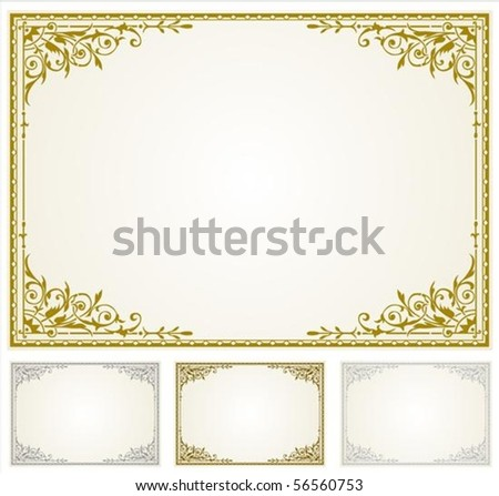 Decorative frame. Perfect for 5x7 invitations or announcements - stock vector