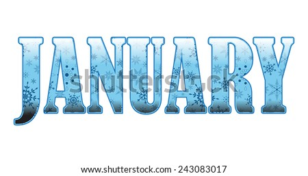 Decorative January - stock vector