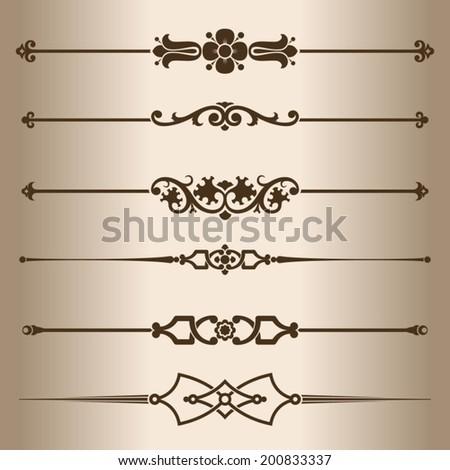 Decorative lines. Design elements - dividing lines. Vector illustration.  - stock vector
