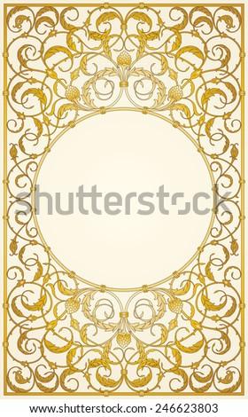 Decorative ornaments design in gold color (EPS10) - stock vector
