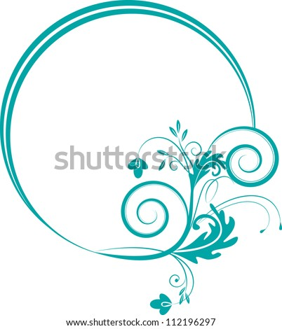decorative oval frame for design in vintage styled - stock vector