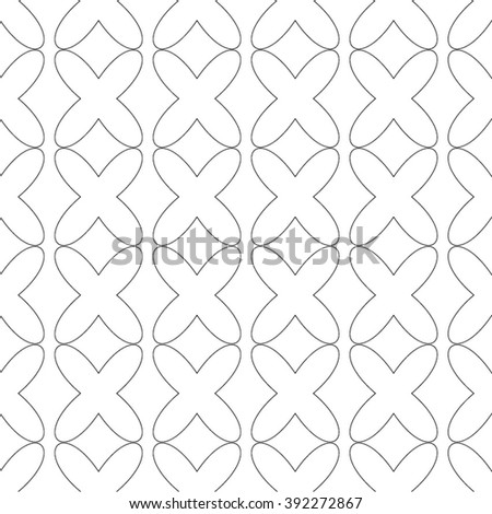 Decorative pattern mesh cell, rhombus, seamless vector background. - stock vector