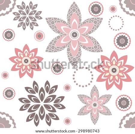 Decorative pattern with elegant floral elementsTemplate for design fabric. - stock vector