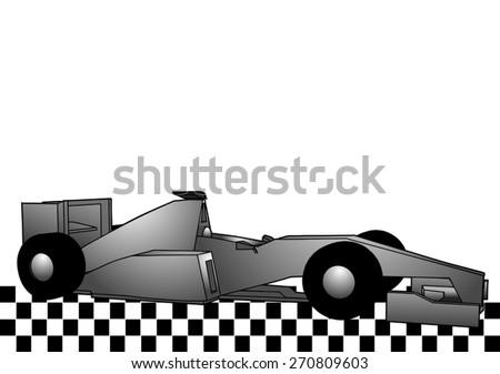 decorative racing car - stock vector