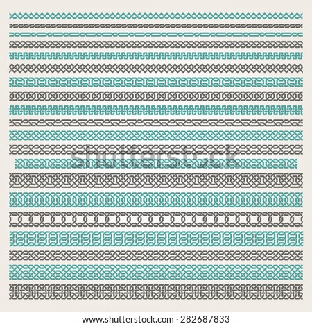 Decorative seamless islamic ornamental border - stock vector
