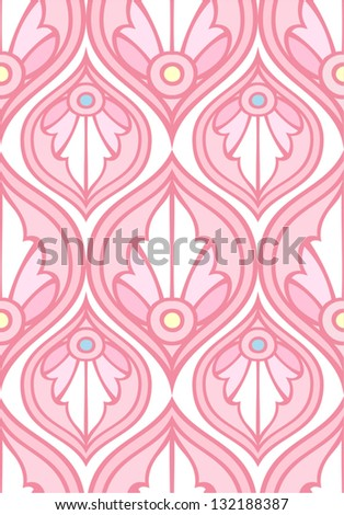 decorative seamless pattern - stock vector