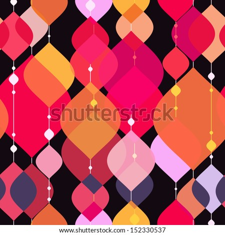 Decorative seamless pattern. vector - stock vector