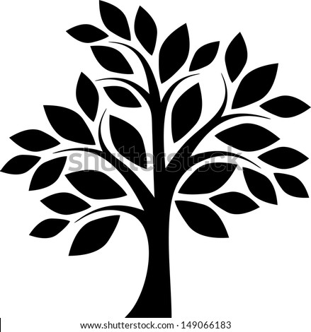 how to draw a simple tree with leaves