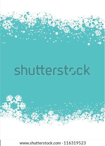 Decorative snowflake background - stock vector
