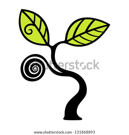 decorative tree - stock vector
