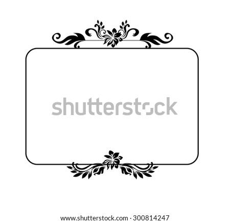 Decorative victorian style calligraphic vector design element, elegant frame. - stock vector