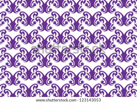 Decorative wallpaper pattern for any use - stock vector