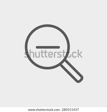 Decrease the volume icon thin line for web and mobile, modern minimalistic flat design. Vector dark grey icon on light grey background. - stock vector