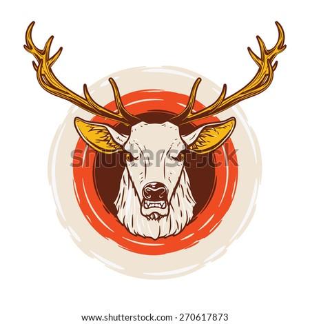 Deer head. Vector Illustration. - stock vector