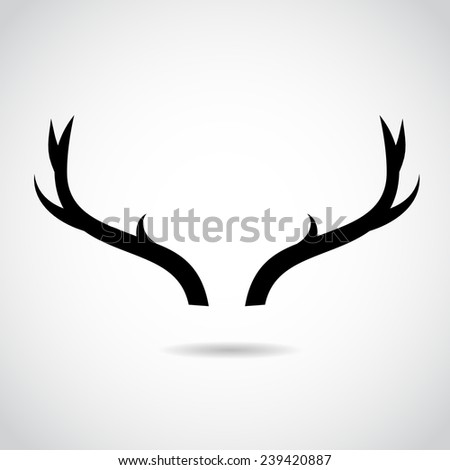 Deer horns icon isolated on white background. VECTOR illustration. - stock vector