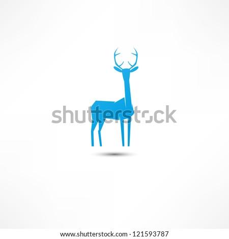 Deer Icon - stock vector