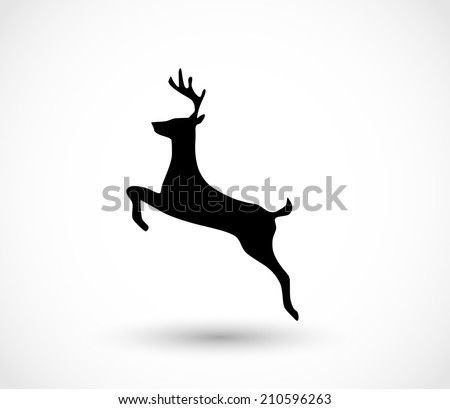 Deer icon vector - stock vector