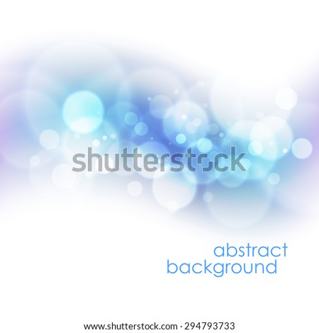 Defocused abstract blue christmas background EPS 10 - stock vector