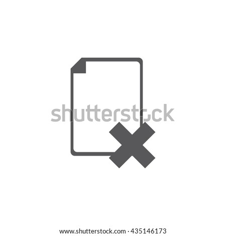 delete file Icon, delete file Icon UI, delete file Icon Vector, delete file Icon Eps, delete file Icon Jpg, delete file Icon Picture, delete file Icon Flat, delete file Icon App, delete file Icon Web - stock vector