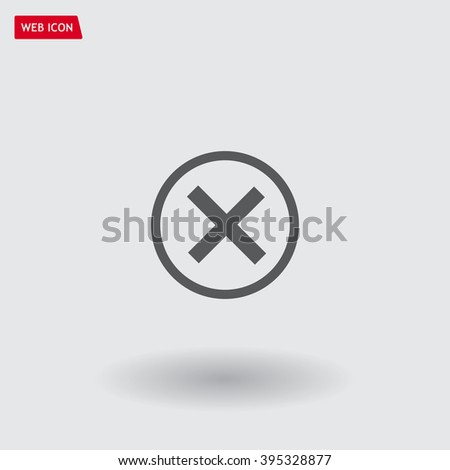 Delete icon. Cross sign in circle - can be used as symbols of wrong, close, deny etc. Vector illustration, EPS 10 - stock vector