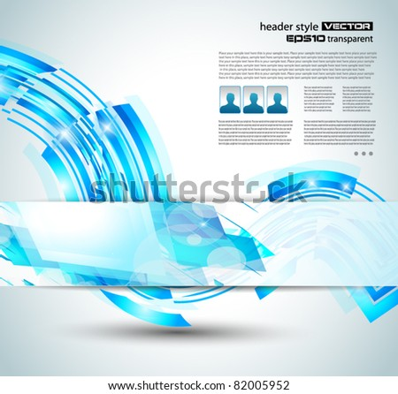 Delicate blue abstract background for stylish business flyer or corporate promotional posters or website header. - stock vector