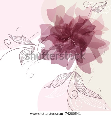 Delicate floral background, vector illustration - stock vector