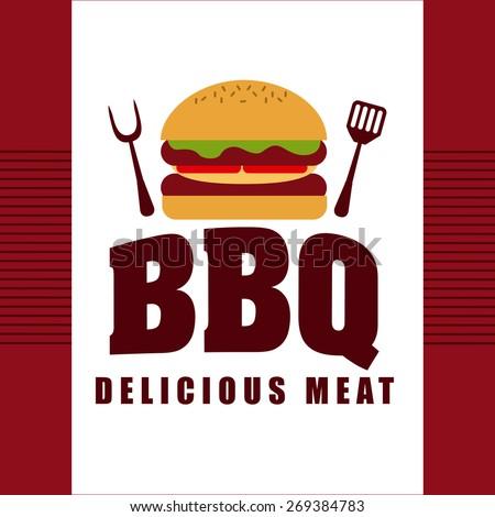 delicious barbecue design, vector illustration eps10 graphic  - stock vector