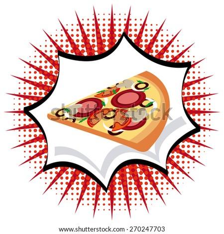 delicious pizza design, vector illustration eps10 graphic  - stock vector