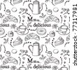 Delicious vector pattern - stock vector
