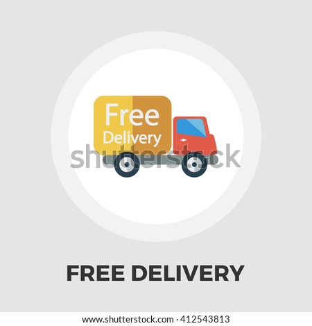 Delivery Car icon vector. Flat icon isolated on the white background. Editable EPS file. Vector illustration. - stock vector